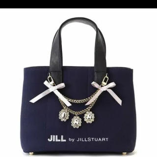 JILL by JILLSTUART - ジルスチュアート ジュエルリボントートバッグ ネイビー 即購入おっけい