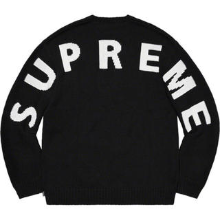 シュプリーム(Supreme)のL  supreme  back logo sweater black(ニット/セーター)