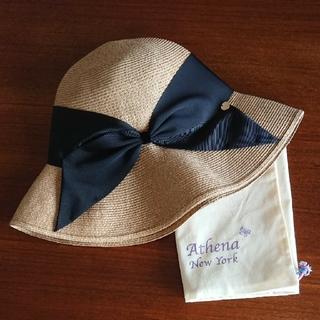 ユナイテッドアローズ(UNITED ARROWS)の1回使用 美品 Athena New York アシーナニューヨーク リサコ(麦わら帽子/ストローハット)