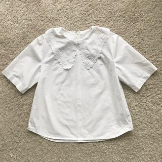 ネストローブ(nest Robe)のl'atelier du savon アトリエ ドゥ サボン 刺繍カラーブラウス(シャツ/ブラウス(半袖/袖なし))