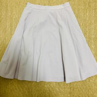 オフオン(OFUON)のOFUON パープル膝丈フレアスカート(ひざ丈スカート)