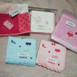 Furla - 新品 FURLA フルラ ハンカチ プレゼント まとめ売り ピンク ブルー