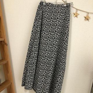 GU - 小花柄ロングスカート