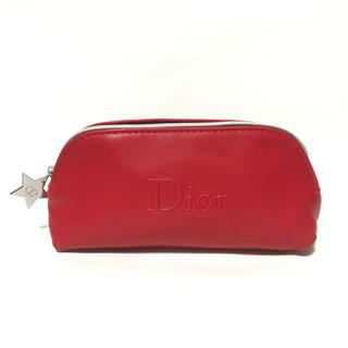 Dior - 未使用 ディオール 星チャーム ソフトレザー調 化粧ポーチ ペンケースルージュ赤
