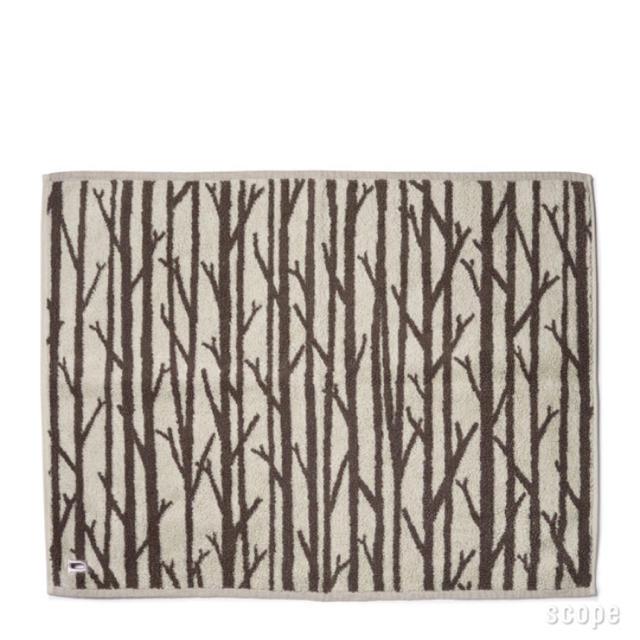 スコープ house towel バスマットTwiggy ブルー×ホワイト2枚組 インテリア/住まい/日用品のラグ/カーペット/マット(バスマット)の商品写真