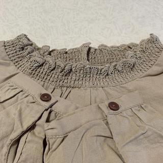 サマンサモスモス(SM2)の衿レースシャーリングブラウス(シャツ/ブラウス(長袖/七分))
