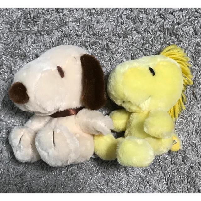 PEANUTS(ピーナッツ)のpeanuts スヌーピー &ウッドストック ぬいぐるみ エンタメ/ホビーのおもちゃ/ぬいぐるみ(キャラクターグッズ)の商品写真