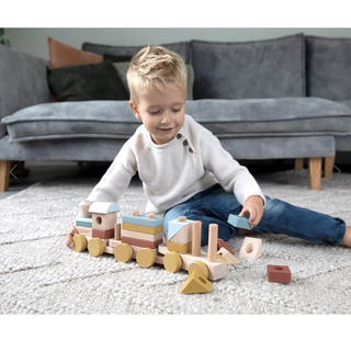 ボーネルンド(BorneLund)のLittle Dutch リトルダッチ トレイン 列車 知育玩具(知育玩具)