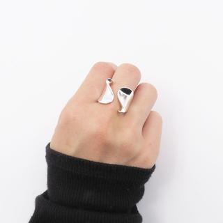 指輪 レディース リング ねじりワイド シルバー 波 太め 重ね付け(リング(指輪))