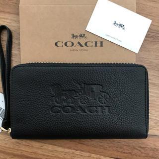 COACH - 新品!コーチ 長財布 ブラック 黒 レディース メンズ ユニセックス