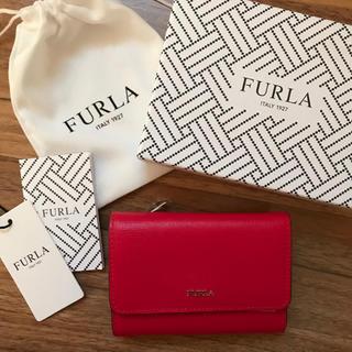Furla - 新品!フルラ 三つ折り財布 赤 レッド