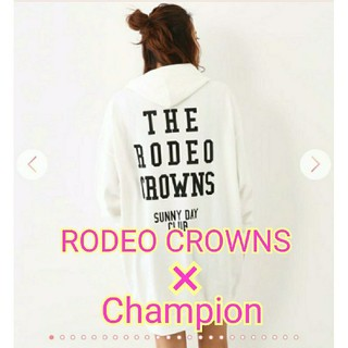 RODEO CROWNS WIDE BOWL - RODEO×Champion★コラボ★パーカーワンピ★RCWB*チャンピオン