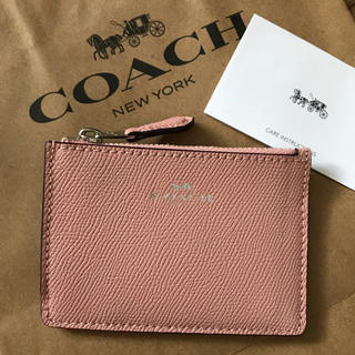 COACH - 新品!コーチ コインケース 小銭入れ キーチャーム ペタル ピンク