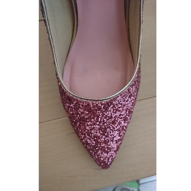 ESPERANZA(エスペランサ)のエスペランサ ピンクスタッズハイヒール レディースの靴/シューズ(ハイヒール/パンプス)の商品写真