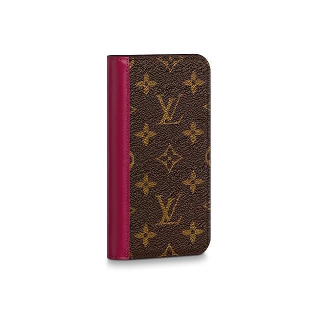 LOUIS VUITTON - iphone11 ケース ルイヴィトン フォリオ モノグラム フューシャ 新品の通販