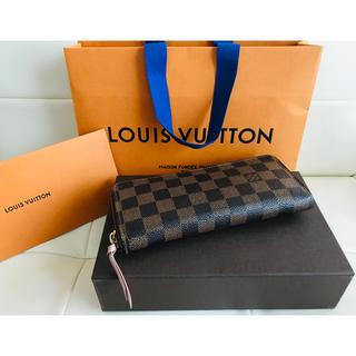 LOUIS VUITTON - 【良品】ルイヴィトン ダミエ ピンク ポルトフォイユ・クレマンス 長財布