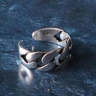 指輪 レディース リング 喜平チェーン シルバー925 フリーサイズ 925銀(リング(指輪))