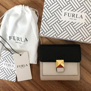 Furla - 新品!フルラ 三つ折り財布 ブラック 黒 ベージュ
