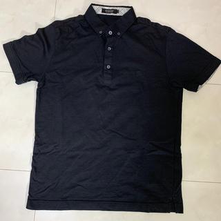 バーバリーブラックレーベル(BURBERRY BLACK LABEL)のバーバリーブラックレーベル ボタンダウン ポロシャツ黒(ポロシャツ)
