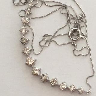 PT900 ダイヤモンド ライン グラデーション ネックレス