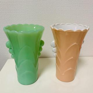Fire-King - ファイヤーキング 花瓶 2個セット
