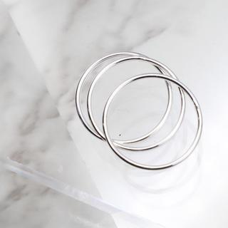 指輪 レディース リング 1mm スリム 極細 シルバー925 フリーサイズ(リング(指輪))