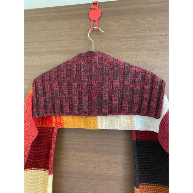 LE CIEL BLEU(ルシェルブルー)の美品★アンシャントマン ウールマフラー レディースのファッション小物(マフラー/ショール)の商品写真