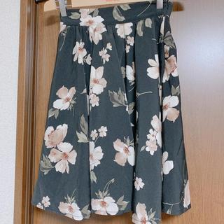 エブリン(evelyn)のAnMILLE  花柄スカート(ひざ丈スカート)