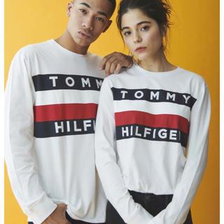TOMMY HILFIGER - トミーヒルフィガー  ロングTシャツ  ホワイト メンズMサイズ