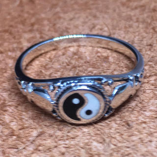 陰陽 オーバル シルバー925リング 印台 銀 指輪 ギフト ハンコ(リング(指輪))