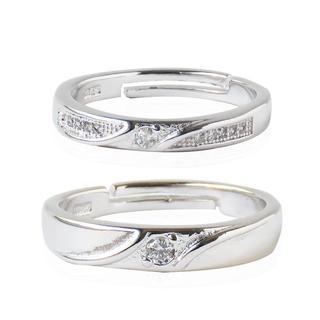ペアリング ジルコニア 重ね付け ring 指輪 925 シルバー レディース(リング(指輪))