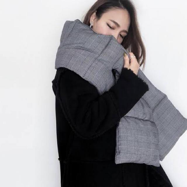 ZARA(ザラ)のZARA ザラ 中綿 マフラー 大判 ストール ショール(グレンチェック) レディースのファッション小物(マフラー/ショール)の商品写真