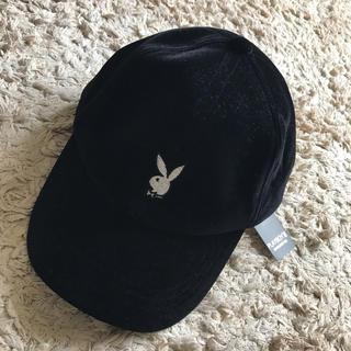 プレイボーイ(PLAYBOY)のプレイボーイ キャップ 帽子 ベロア(キャップ)