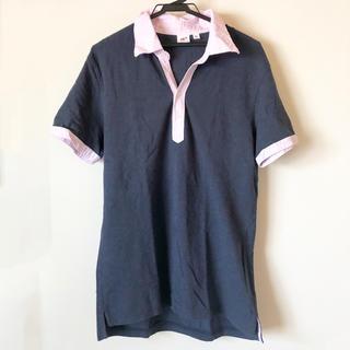 ユニクロ(UNIQLO)の《メンズ》ユニクロ半袖ポロシャツ【ネイビー】(ポロシャツ)