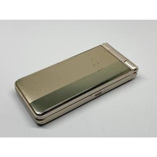 エヌティティドコモ(NTTdocomo)のdocomo P-01G ゴールド ドコモ ガラケー FOMA(携帯電話本体)