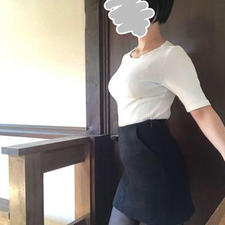 H&M - H&M 台形 フロントポケット ミニスカート ブラック XXS(着用1回のみ)