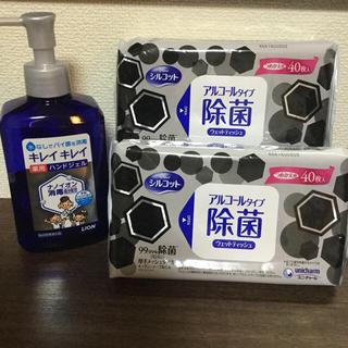ライオン(LION)のキレイキレイ薬用ハンドジェル&アルコールタイプ除菌シート40枚×2袋 (アルコールグッズ)