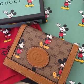 グッチ(Gucci)のGUCCI ミッキーコラボ限定品♡折り二つ折り財布♡GUCCI×Disney(財布)