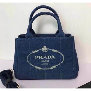 PRADA - PRADA カナパ トートバック Mサイズ ビジュー付き