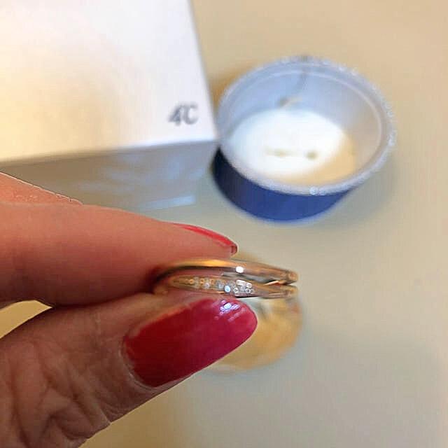 4℃(ヨンドシー)の❤️4°C ピンクゴールドリング❤️売り切り価格 レディースのアクセサリー(リング(指輪))の商品写真