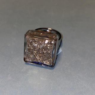 プチコキャン ガラスリングスクエアMサイズシルバー(リング(指輪))