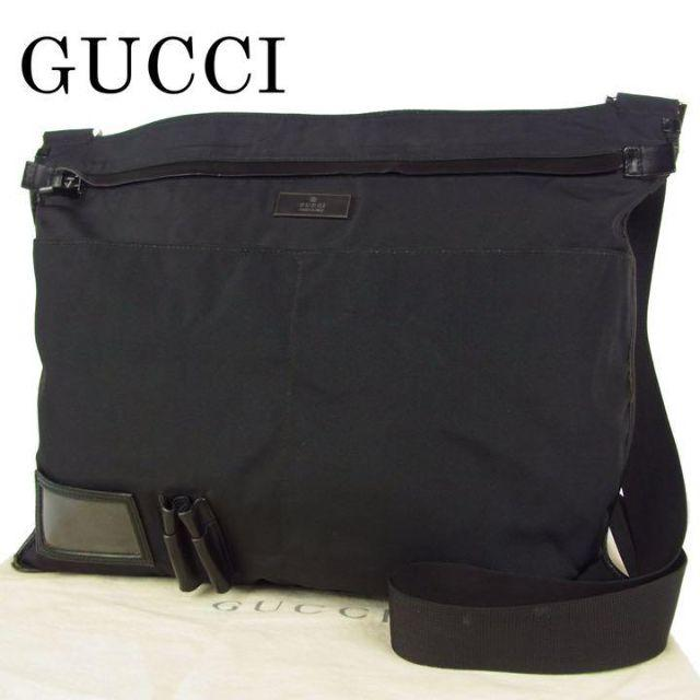 イミテーション 時計 スーパー コピー 、 Gucci - グッチ GUCCI メンズ ナイロン キャンバス×レザー ショルダー バッグの通販