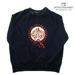 SCOTCH & SODA - 美品 SCOTCH AND SODA 18AW ラメ襟スウェット 紺 M