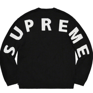 Supreme - supreme Back Logo Sweater Black M セーター