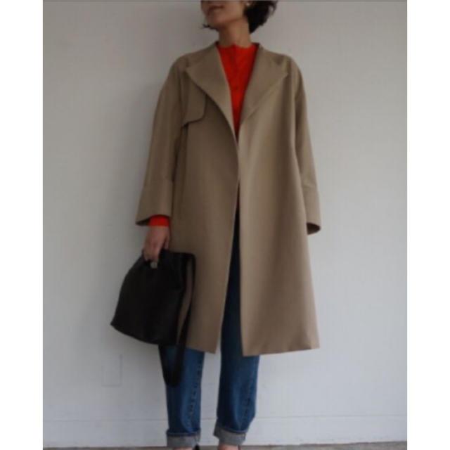 ENFOLD(エンフォルド)のenfold ダブルフェイスノーカラーコート レディースのジャケット/アウター(トレンチコート)の商品写真