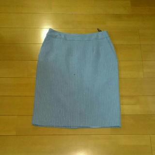 アルファキュービック(ALPHA CUBIC)のグレーストライプ スカート(ひざ丈スカート)