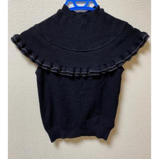 リリーブラウン(Lily Brown)のリリーブラウン フリルニット(カットソー(半袖/袖なし))