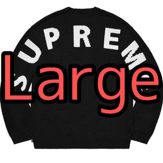 シュプリーム(Supreme)のSupreme Back Logo Sweater Black(ニット/セーター)
