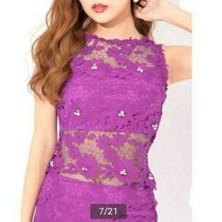 dazzy store - デイジーストア パープル 2ピース ドレス