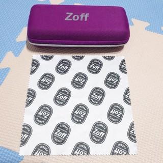 ゾフ(Zoff)のZoff ゾフ メガネケース メガネ拭き パープル(サングラス/メガネ)